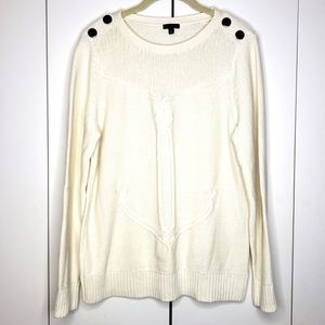 Talbots Cotton Anchor Cable Knit Sweater